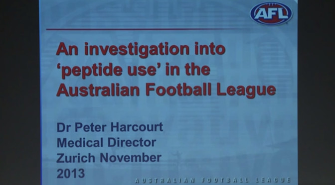 Dr Peter Harcourt, Essendon Supplements Saga, AFL, ASADA