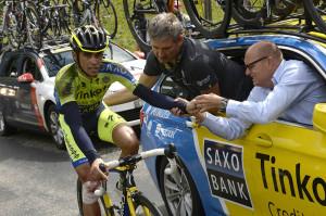Alberto Contador, broken leg, Tour de France 2014