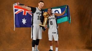 Aron Baynes, Patty Mills, San Antonio Spurs, Australia
